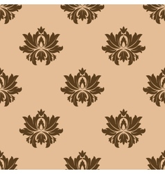 Beige seamless floral pattern background vector