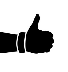 black hand silhouette thumbs up vector image