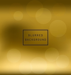 Blurred abstract gradient background golden vector image