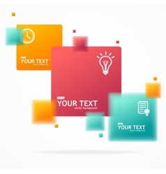 blurred colorful text boxes infographics vector image