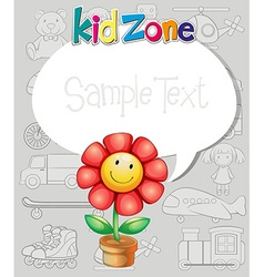 Border design with flower and toys vector image