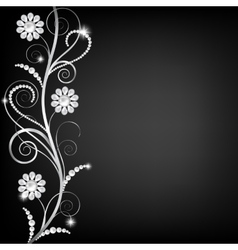 border with pearls vector image