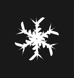 brushed isolated snowflake vector image