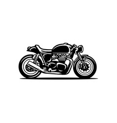 cafe racer silhouette motor bike isolated vector image