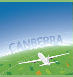 Canberra flight destination vector