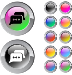 Chat multicolor round button vector image