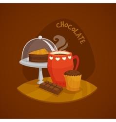 Chocolate Design Concept Set vector image