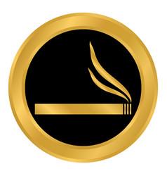 cigarette button on white vector image