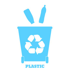 colorful containers for recycling waste sorting vector image
