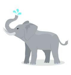 Elephant cartoon icon in flat design vector