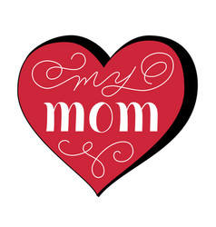 festive mothers day greeting concept vector image