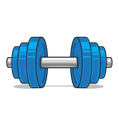 Fitness workout dumbbell isolated on white vector