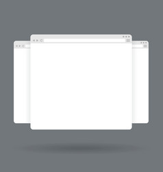 Flat blank browser windows for different devices vector image