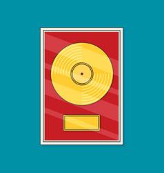 Flat vinyl disk icon vector