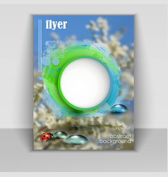 flyer with spring background vector image