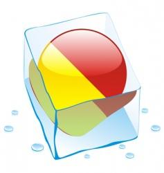 Frozen button flag of sicily vector