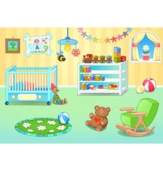 Funny nursery with toys vector