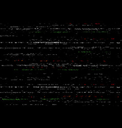 Glitch vhs screen video effect with noise vector