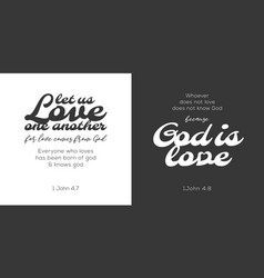 God is love verse from bible vector