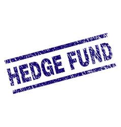 Grunge textured hedge fund stamp seal vector
