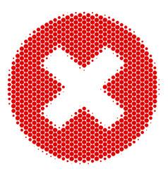 Halftone dot cancel icon vector