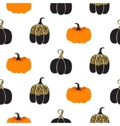 Halloween pumpkin seamless pattern vector