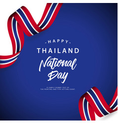 happy thailand national day template design vector image