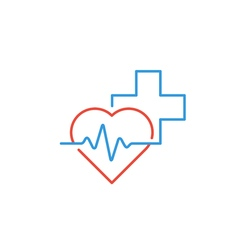 Healthcare and medical logo and icon concept heart vector image