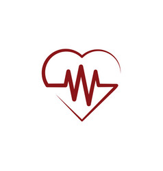 heart rate wave medical logo icon symbol element vector image