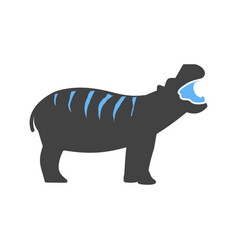 Hippo africa anima vector
