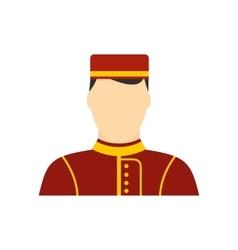 Hotel bellman flat icon vector