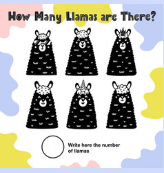 how many llamas are there count and write vector image