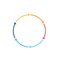 infographic circle line arrow icon vector image