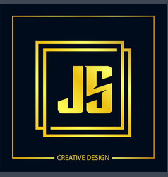 Initial letter js logo template design vector