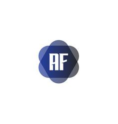 initial letter logo af template design vector image