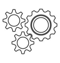 isolated settings icon graphic vector image