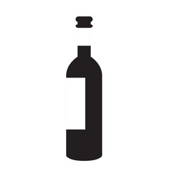 isolated wine bottle vector image
