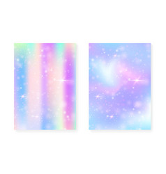 Kawaii background with rainbow princess gradient vector