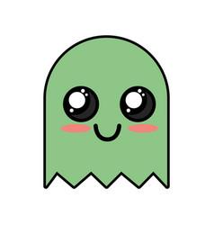 kawaii cute happy videogame character vector image