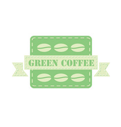 Label for green coffee vector