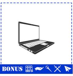 laptop icon flat vector image