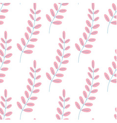 leaves pattern endless background seamless in vector image