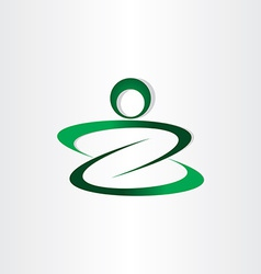 letter z man icon stylized design vector image