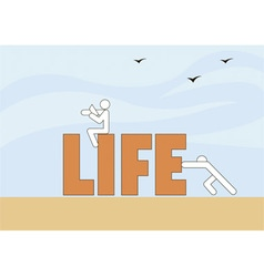 Life in movement vector
