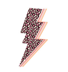 Lightning glossy bolt leo icon vector