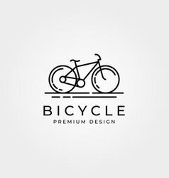 Line art bicycle bike logo minimalist design vector