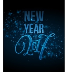 Marry Christmas and Happy New Year 2017 lettering vector