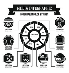 Media infographic concept simple style vector