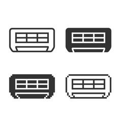 Monochromatic air conditioner icon in different vector