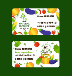 natural food supply business card design vector image